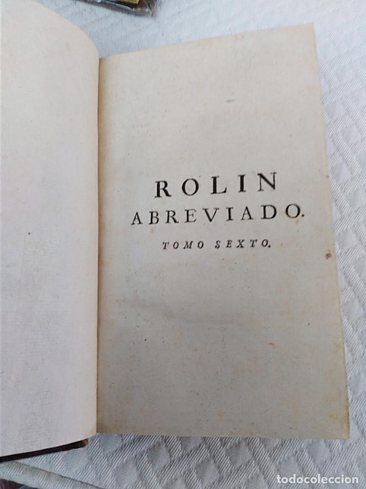 Libros antiguos: Edición Lujo-Compendio de la historia antigua o Rolin abreviado COMPLETO - AMBERES 1745. 6 Tomos - Foto 19 - 41240551