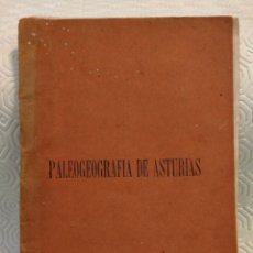 Libros antiguos: PALEOGEOGRAFIA DE ASTURIAS. CONFERENCIAS DE VULGARIZACION CIENTIFICA. ORGANIZADAS POR LA A. A. A. DE. Lote 213448697