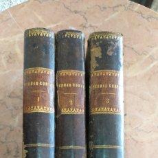 Libros antiguos: 3 TOMOS DE HERNÁN CORTÉS 1869 MADRID. Lote 216657553