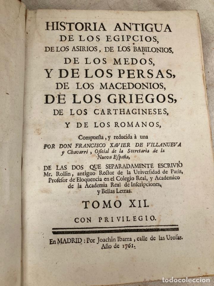 PAREJA LIBROS 1761,HISTORIA DE LOS ROMANOS,GRIEGOS,ETC! (Libros antiguos (hasta 1936), raros y curiosos - Historia Antigua)