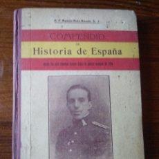 Libros antiguos: COMPENDIO DE HISTORIA DE ESPAÑA. Lote 217542133