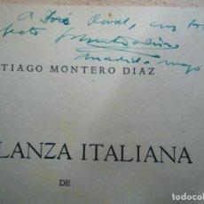 Libros antiguos: 3 LIBROS DE SANTIAGO MONTERO DIAZ UNO CON DEDICATORIA MANUSCRITA SON TRES RAROS FOLLETOS. Lote 218419240