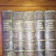 Libros antiguos: HISTORIA DE CATALUÑA Y DE LA CORONA DE ARAGÓN POR VÍCTOR BALAGUER 1860 COMPLETO LIBROS ILUSTRADOS. Lote 218421905