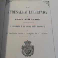 Libros antiguos: JERUSALEM LIBERTADA TORCUATO TASSÓ 1855. Lote 218810620