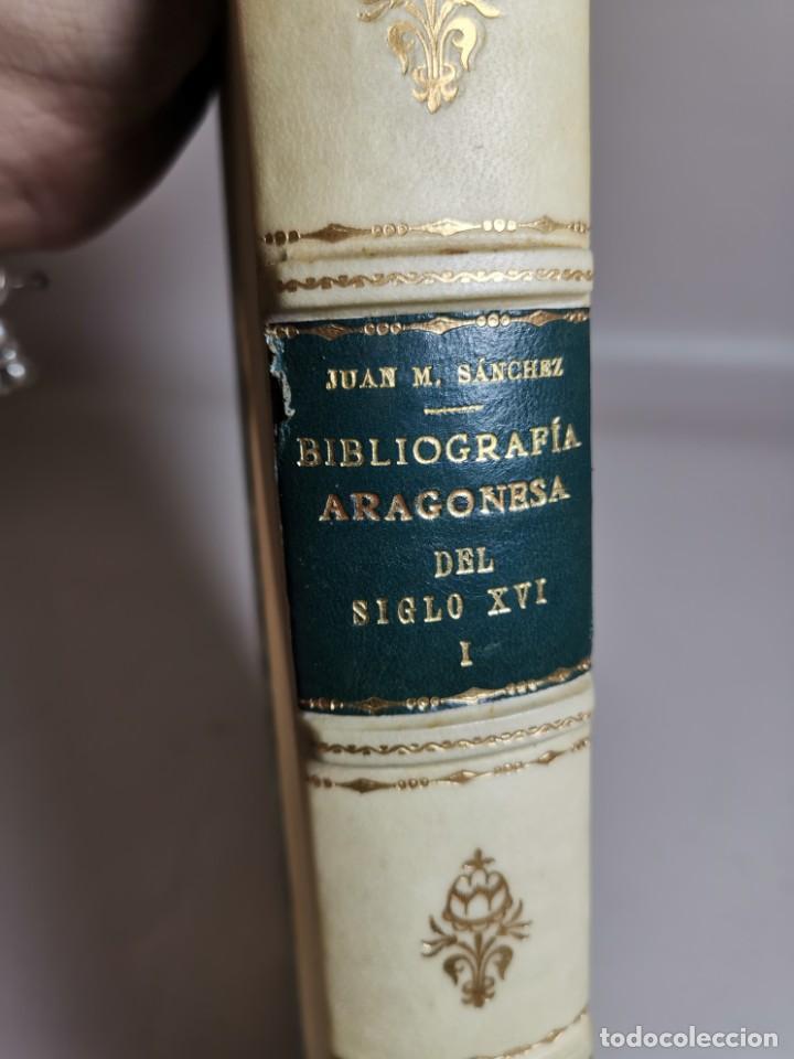 Libros antiguos: BIBLIOGRAFÍA ARAGONESA DEL SIGLO XVI ( 1501-1550 ) JUAN M. SÁNCHEZ 1913 papel de hilo 1/150.TOMO I.. - Foto 19 - 219274582