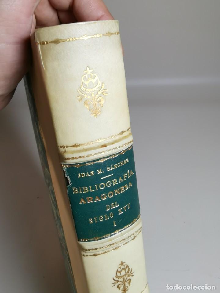 Libros antiguos: BIBLIOGRAFÍA ARAGONESA DEL SIGLO XVI ( 1501-1550 ) JUAN M. SÁNCHEZ 1913 papel de hilo 1/150.TOMO I.. - Foto 20 - 219274582