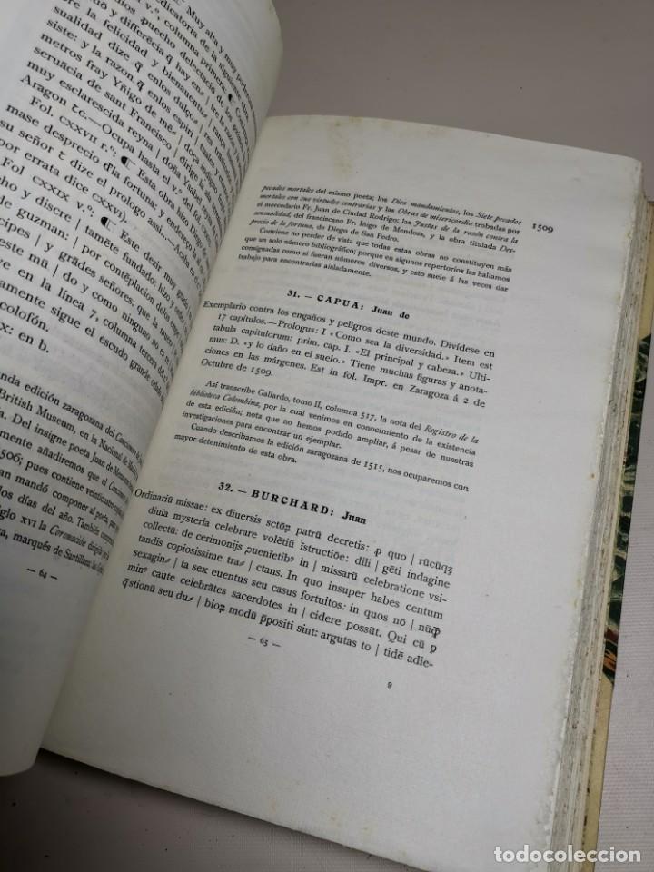 Libros antiguos: BIBLIOGRAFÍA ARAGONESA DEL SIGLO XVI ( 1501-1550 ) JUAN M. SÁNCHEZ 1913 papel de hilo 1/150.TOMO I.. - Foto 30 - 219274582