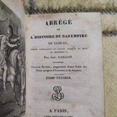 Libros antiguos: 1825. RESUMEN DE LA HISTORIA DEL BAJO IMPERIO, DESDE CONSTANTINO HASTA MOHOMET II.. Lote 220608758