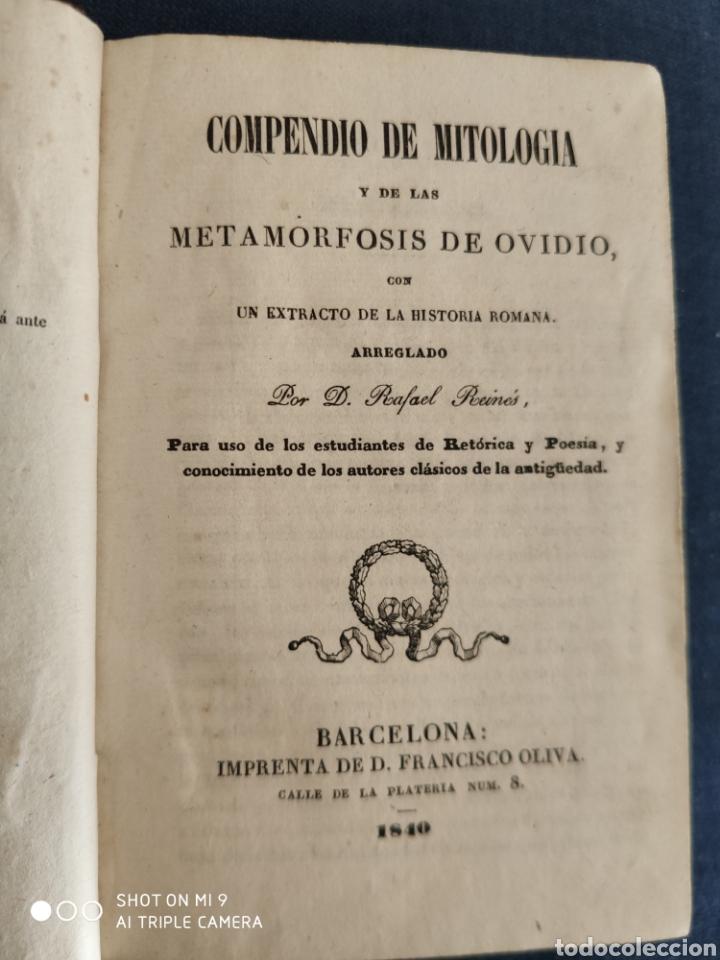 Libros antiguos: COMPENDIO DE MITOLOGIA Y DE LAS METAMORFOSIS DE OVIDIO. 1840. - Foto 8 - 220743323