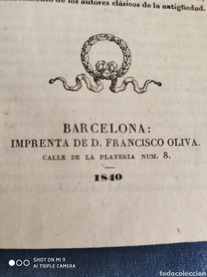 Libros antiguos: COMPENDIO DE MITOLOGIA Y DE LAS METAMORFOSIS DE OVIDIO. 1840. - Foto 9 - 220743323