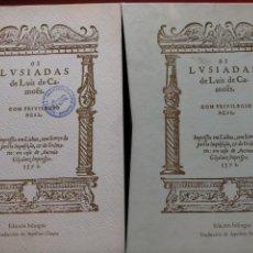 Libros antiguos: OS LUSIADAS - LUIS DE CAMOES - EDICIÓN BILINGÜE 1980 - EDICIÓN NUMERADA. Lote 221623542