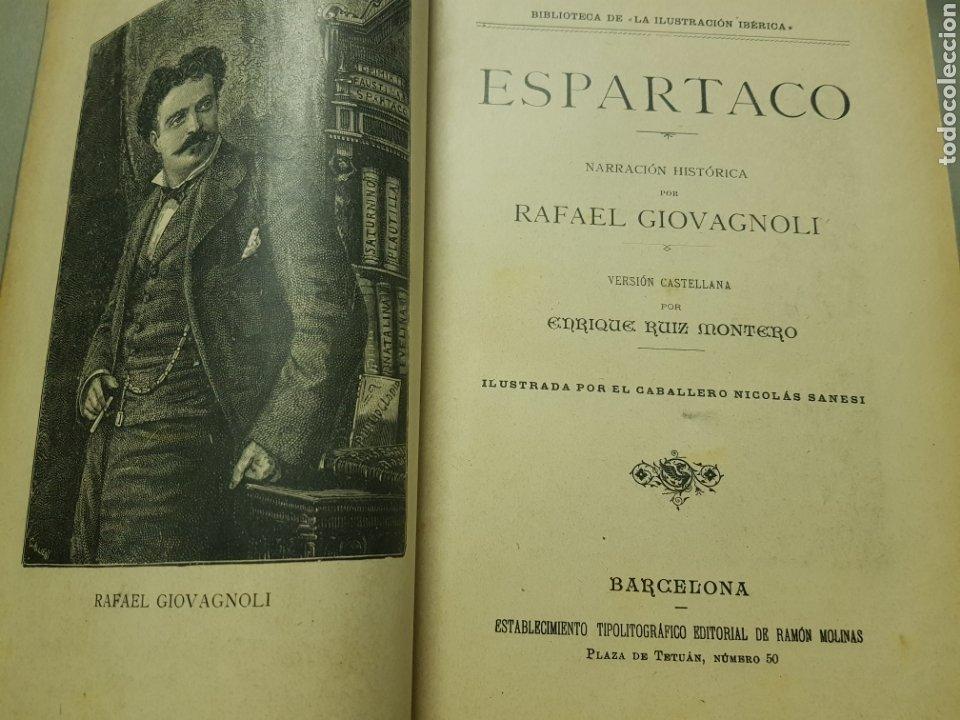 Libros antiguos: Espartaco 1901 con ilustraciones - Foto 2 - 222059715