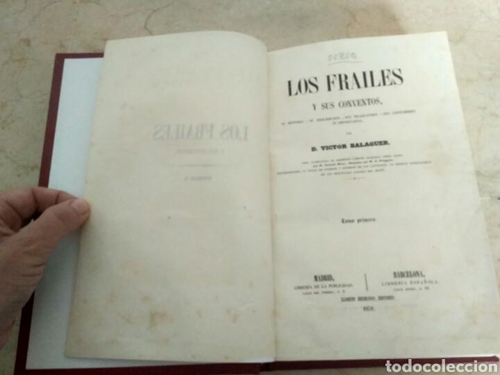 Libros antiguos: Los frailes y sus conventos siglo XIX - Foto 3 - 223327678