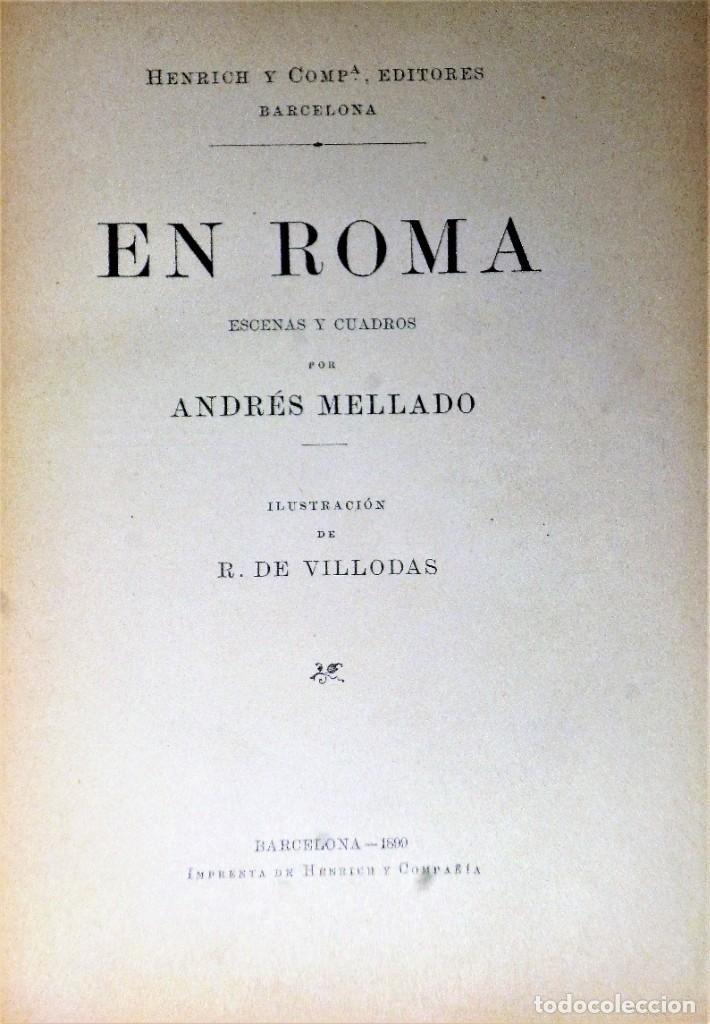 Libros antiguos: EN ROMA, ESCENAS Y CUADROS - Foto 2 - 223911413