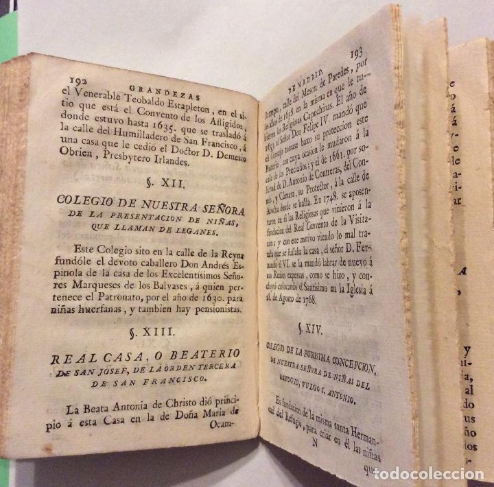 Libros antiguos: Compendio Histórico de las Grandezas de la Corona Villa de Madrid 1786 - Foto 4 - 223997290