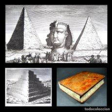 Libros antiguos: AÑO 1770 LAS PIRÁMIDES DE EGIPTO LA TORRE DE BABEL 9 ESPECTACULARES GRABADOS HISTORIA UNIVERSAL 26CM. Lote 223999048