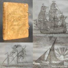 Libros antiguos: 1757 - EL MAR - GRABADOS DE NAVIOS - NAVEGACIÓN - PESCA - BARCOS - PERGAMINO - EXCEPCIONALES GRABADO. Lote 224145252
