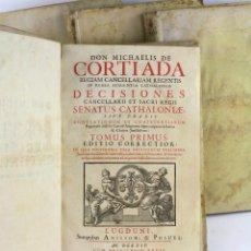Libros antiguos: REGIAM CANCELLARIAM REGENTIS IN REGIA AUDIENTIA CATHALONIAE, 1714, MICHAELIS CORTIADA, LUGUNDI.. Lote 225245855