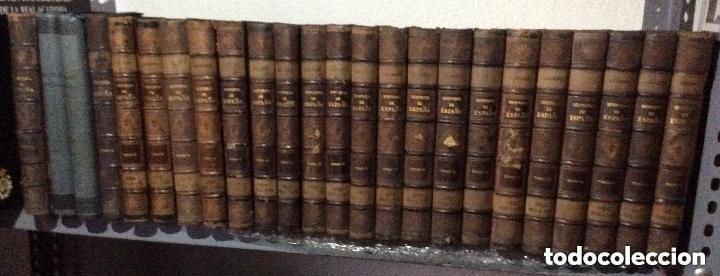 HISTORIA GENERAL DE ESPAÑA MODESTO LA FUENTE. 25 TOMOS. -AÑO 1889 (Libros antiguos (hasta 1936), raros y curiosos - Historia Antigua)