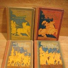 Libros antiguos: HISTORIA UNIVERSAL 4 TOMOS - ALBERTO LLANO - SEIX & BARRAL 1ª EDICION 1926/27. Lote 228339030