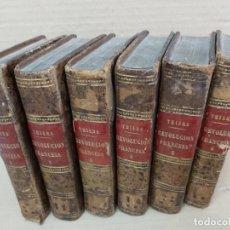 Libros antiguos: LA REVOLUCIÓN FRANCESA ( M. A. THIERS 6 TOMOS 1845 ). Lote 228360663