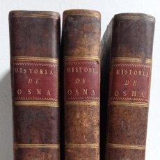 Libros antiguos: 1788 - DESCRIPCION HISTORICA DEL OBISPADO DE OSMA - 3 TOMOS - LOPERRAEZ CORVALAN - GRABADOS Y PLANOS. Lote 228557205