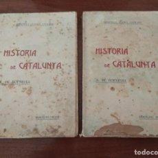 Libros antiguos: HISTORIA DE CATALUNYA POR A.DE BOFARULL 1906 (TOMO I Y II). Lote 229026985