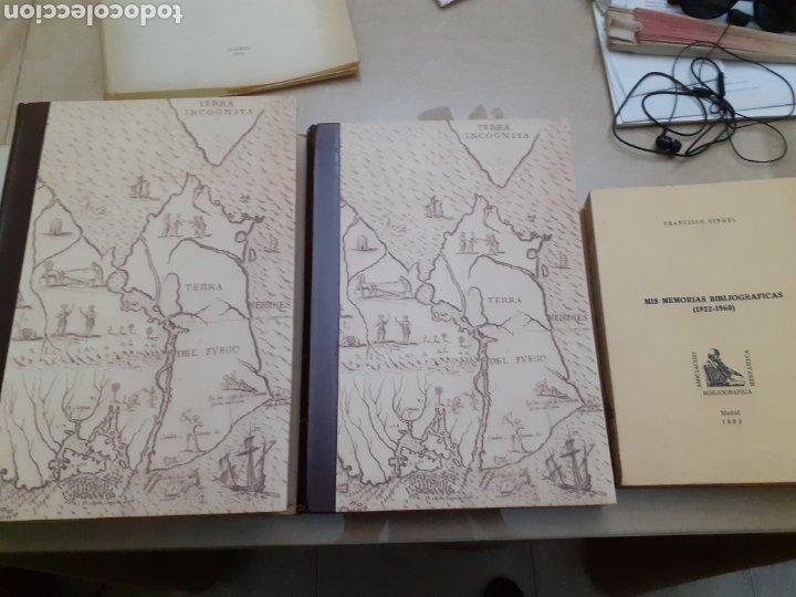 OBRA COMPLETA MAPAS AMERICA SIGLOS XVI-XVIII FRANCISCO VINDEL + MEMORIAS BIBLIOGRAFICAS 3 TOMOS TOTA (Libros antiguos (hasta 1936), raros y curiosos - Historia Antigua)