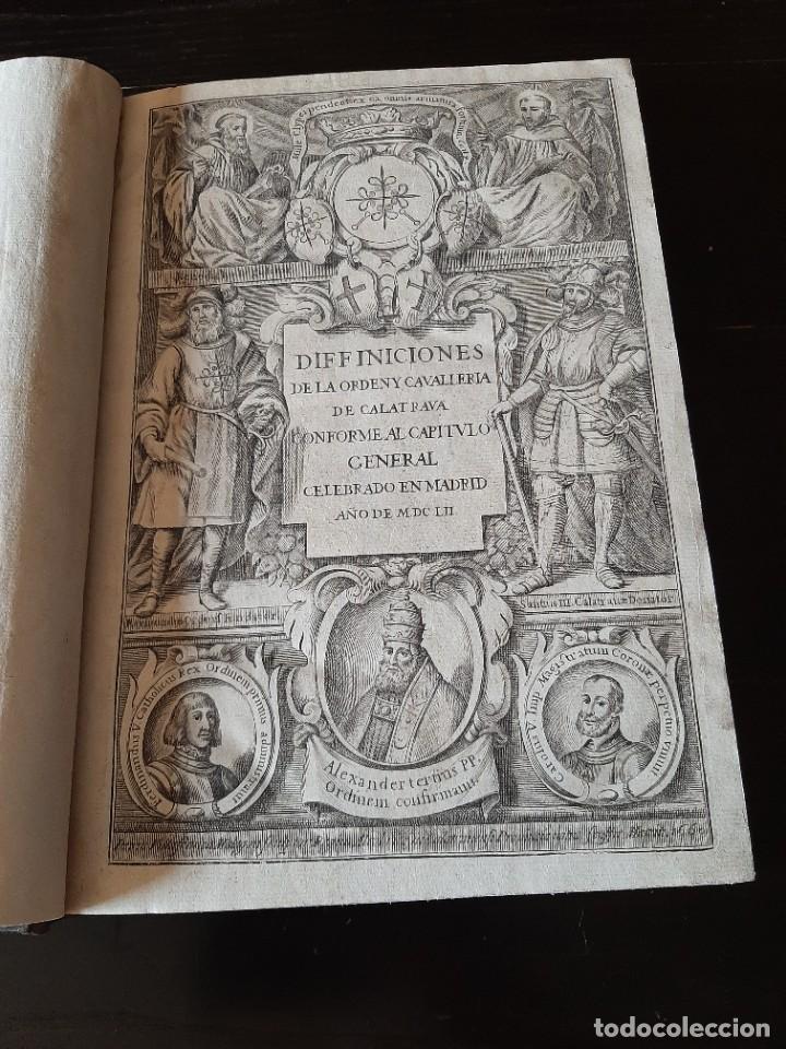 DEFINICIONES DE LA ORDEN DE CALATRAVA 1748 (Libros antiguos (hasta 1936), raros y curiosos - Historia Antigua)