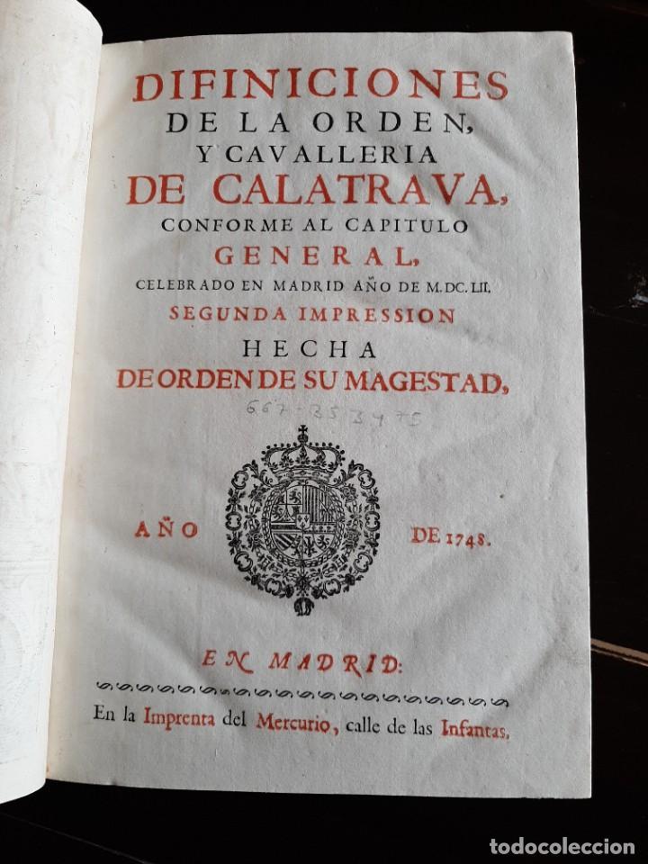 Libros antiguos: DEFINICIONES DE LA ORDEN DE CALATRAVA 1748 - Foto 2 - 230054070