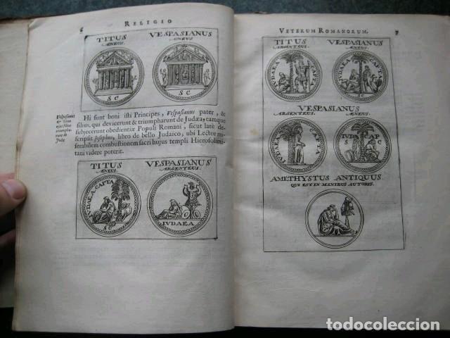 Libros antiguos: VETERUM ROMANORUM RELIGIÓN CASTRAMETATIO...., 1685. Guilielmo du Choul. Grabados - Foto 6 - 230415295