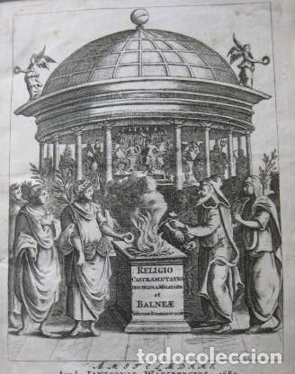 VETERUM ROMANORUM RELIGIÓN CASTRAMETATIO...., 1685. GUILIELMO DU CHOUL. GRABADOS (Libros antiguos (hasta 1936), raros y curiosos - Historia Antigua)