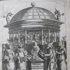 Libros antiguos: VETERUM ROMANORUM RELIGIÓN CASTRAMETATIO...., 1685. GUILIELMO DU CHOUL. GRABADOS. Lote 230415295