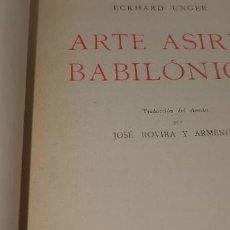 Libros antiguos: ARTE ASIRIO-BABILONICO 1932 LABOR. Lote 230799360