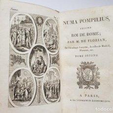 Libros antiguos: NUMA POMPILIUS. FLORIAN 1810. Lote 230868755