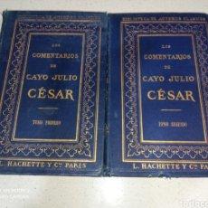 Libros antiguos: LOS COMENTARIOS DE CAYO JULIO CESAR 1867. Lote 232729645