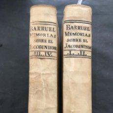 Livres anciens: MEMORIAS PARA SERVIR A LA HISTORIA DEL JACOBINISMO, ABATE BARRUEL, 1813. Lote 262399990