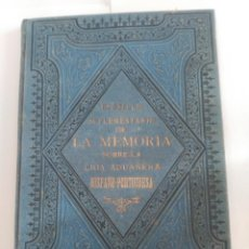 Libros antiguos: GERONA LA MEMORIA SOBRE LA LIGA ADUANERA HISPANO-PORTUGUESA. Lote 237338970