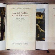 Libros antiguos: ESPAÑA MUSULMANA -2 TOMOS 1946-1ª EDICIÓN. Lote 238667980