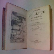 Libros antiguos: MAGNIFICO LIBRO HISTORIA DE GRECIA Y DE ITALIA 170 AÑOS ATRACTIVOS GRABADOS. Lote 239704875