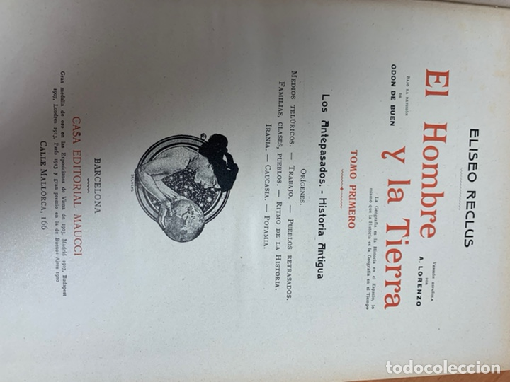 Libros antiguos: EL HOMBRE Y LA TIERRA.ELÍSEO RECLÚS. TOMOS I AL VI. CASA EDITORIAL MAUCCI. BARCELONA. - Foto 40 - 242066770