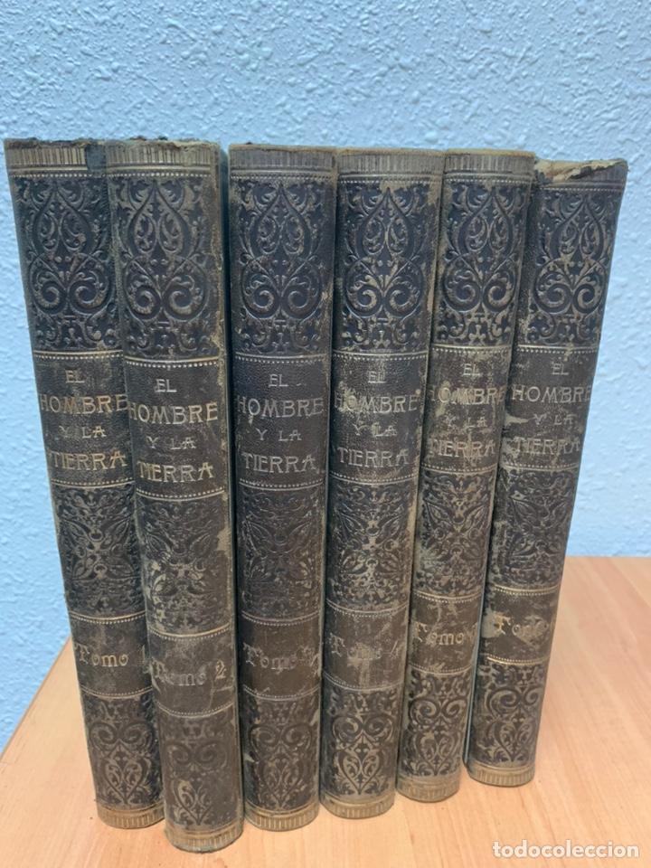 EL HOMBRE Y LA TIERRA.ELÍSEO RECLÚS. TOMOS I AL VI. CASA EDITORIAL MAUCCI. BARCELONA. (Libros antiguos (hasta 1936), raros y curiosos - Historia Antigua)