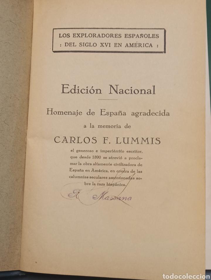 Libros antiguos: Los Exploradores Españoles del siglo XVI Charles F. Lummis Undécima Edición 1930 Editorial Araluce - Foto 3 - 243135185