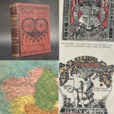Libri antichi: 1900 - DICCIONARIO POPULAR ILUSTRADO - 1430 GRABADOS - 52 LAMINAS Y 10 MAPAS. Lote 244195950