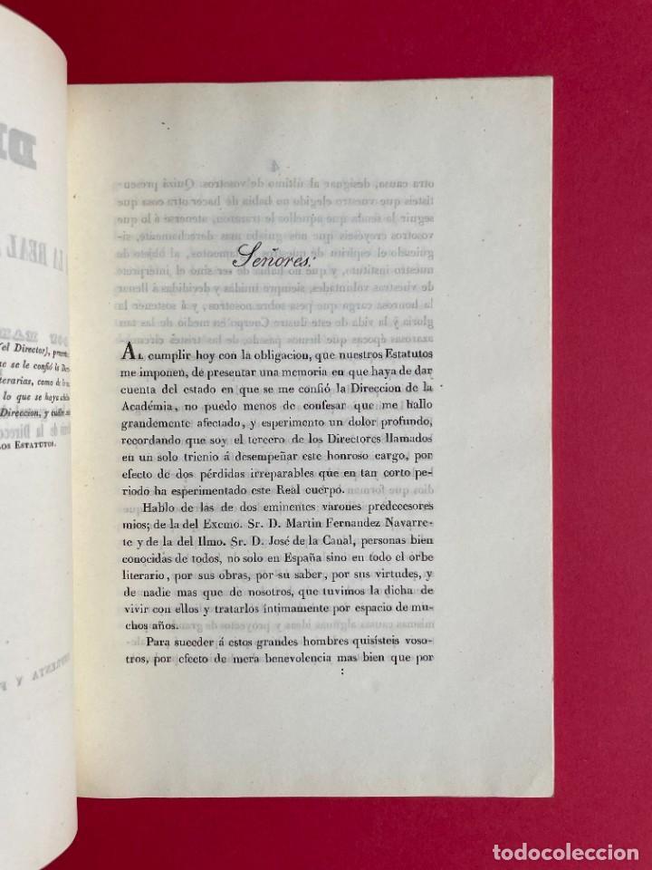 Libros antiguos: 1847 - DISCURSO A LA REAL ACADEMIA ESPAÑOLA - BARON DE LAJOYOSA - Foto 3 - 244431485