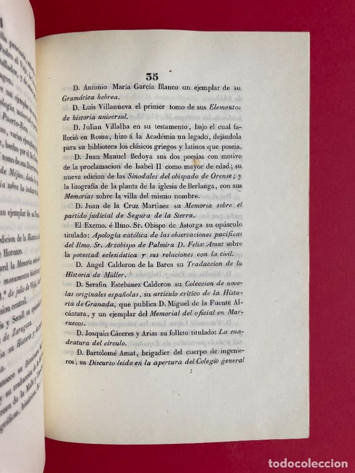 Libros antiguos: 1847 - DISCURSO A LA REAL ACADEMIA ESPAÑOLA - BARON DE LAJOYOSA - Foto 8 - 244431485