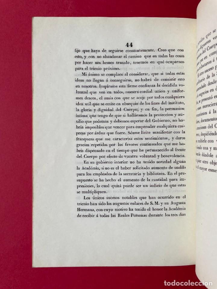 Libros antiguos: 1847 - DISCURSO A LA REAL ACADEMIA ESPAÑOLA - BARON DE LAJOYOSA - Foto 10 - 244431485