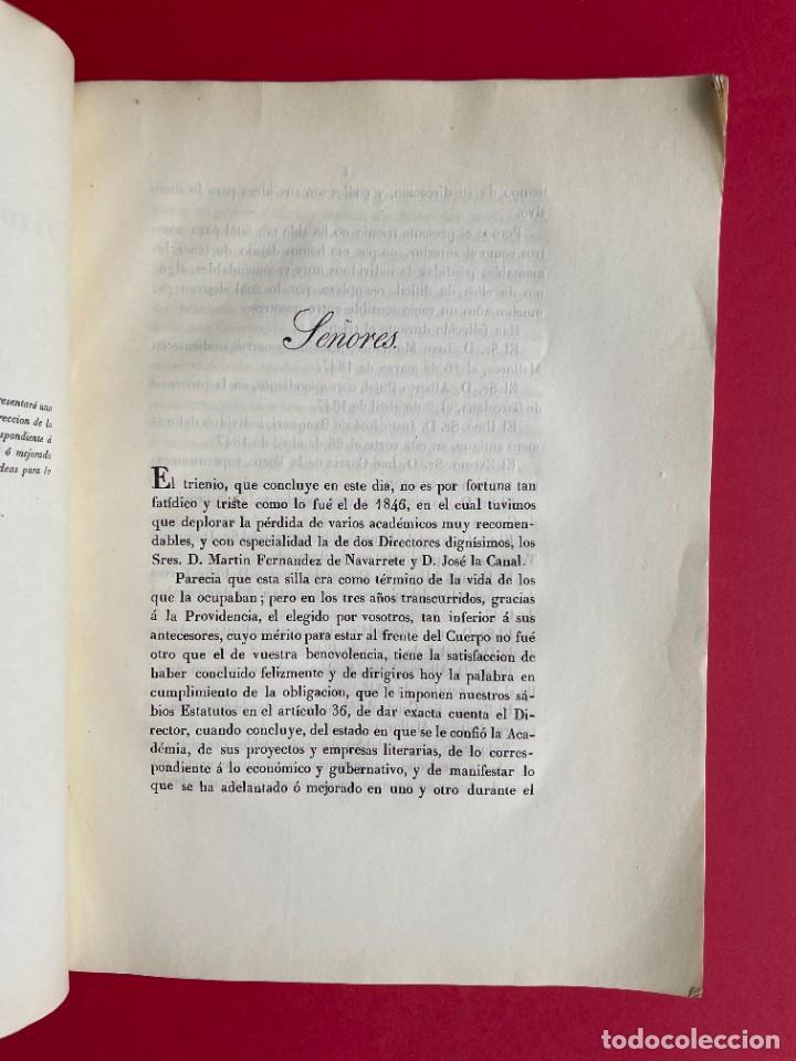 Libros antiguos: 1850 - DISCURSO LEIDO A LA REAL ACADEMIA DE HISTORIA POR EL BARON DE LAJOYOSA - Foto 3 - 244432155