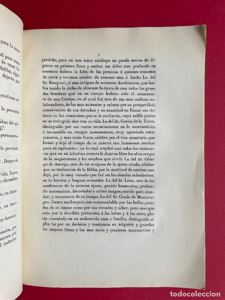 Libros antiguos: 1850 - DISCURSO LEIDO A LA REAL ACADEMIA DE HISTORIA POR EL BARON DE LAJOYOSA - Foto 4 - 244432155