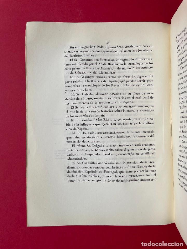 Libros antiguos: 1850 - DISCURSO LEIDO A LA REAL ACADEMIA DE HISTORIA POR EL BARON DE LAJOYOSA - Foto 6 - 244432155